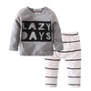 Autumn baby boy clothes cotton long-sleeved Letter T-shirt+pants