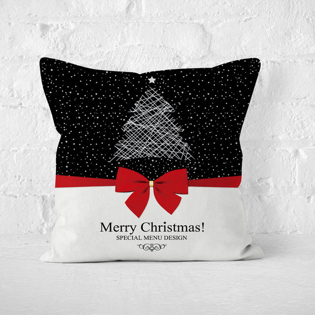 Christmas Pillows Cover Set