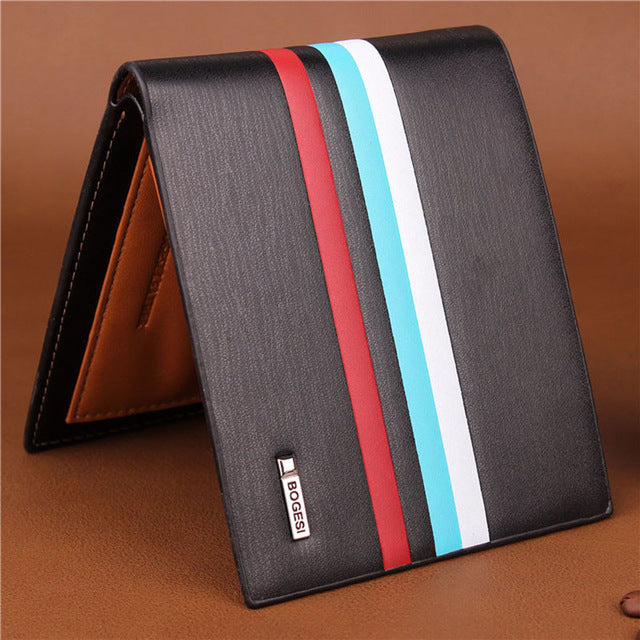 Famous Striped Wallet