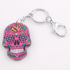 Colorful Skull Keychain