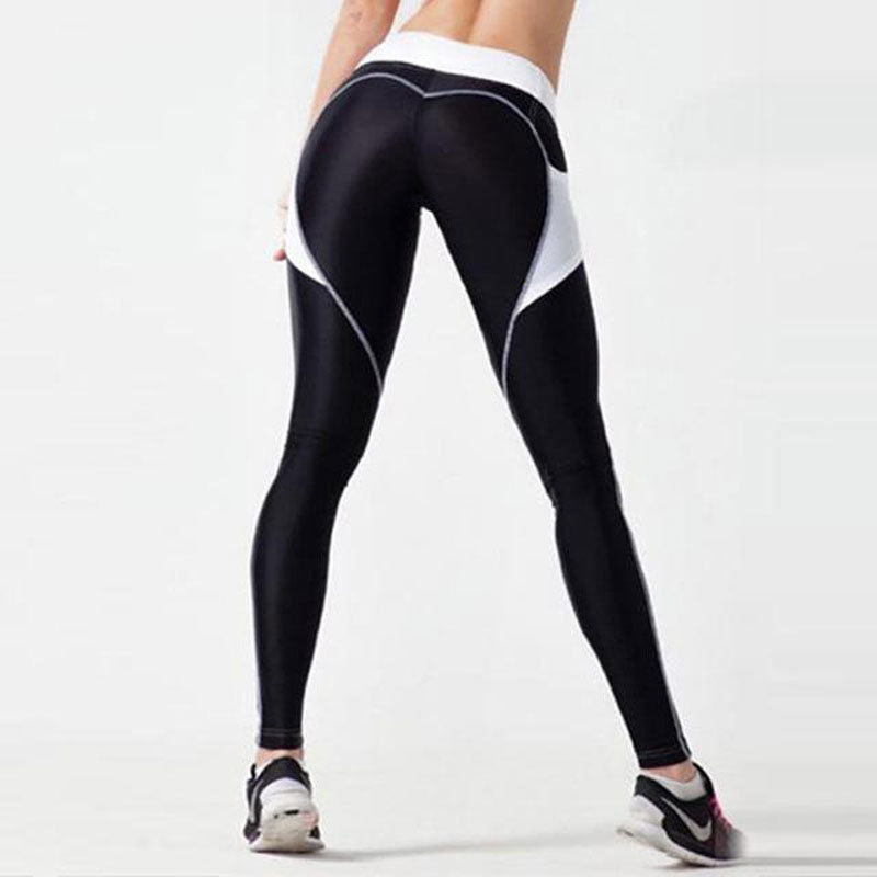 FAME HEART BOOTY PATTERN STRETCH YOGA SLIM SPORTS LEGGINGS