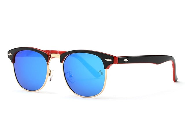 Men Retro Rivet Sunglasses