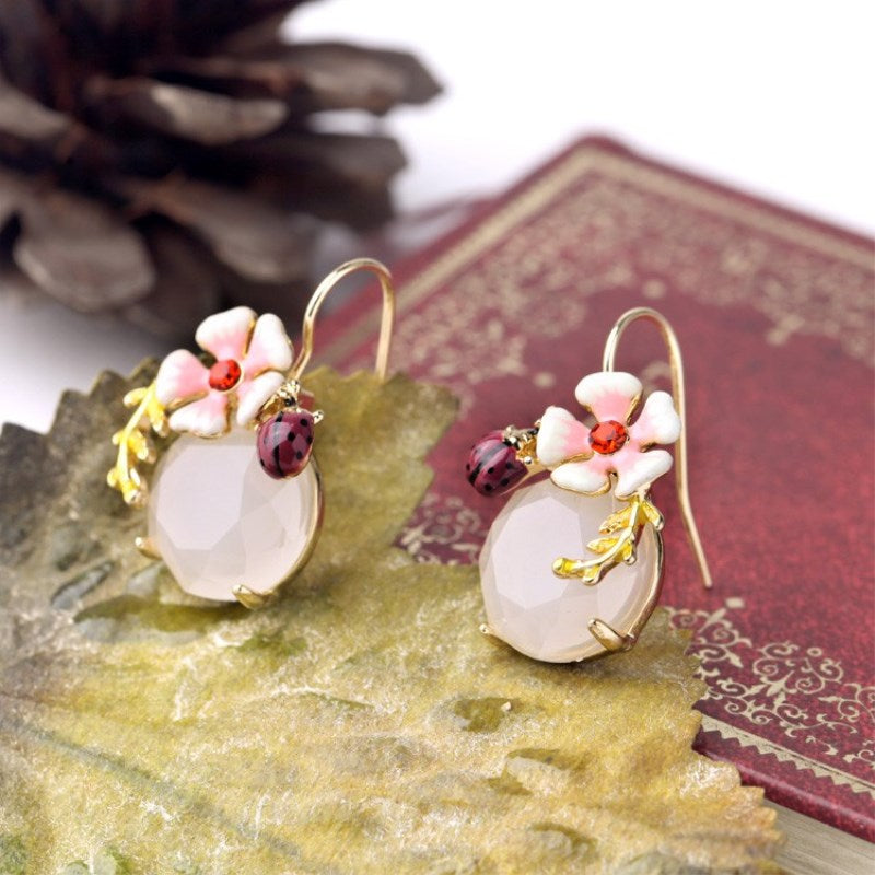 Multicolour Glaze Flower Earrings
