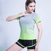 Women Short Sleeved Yoga Shirts