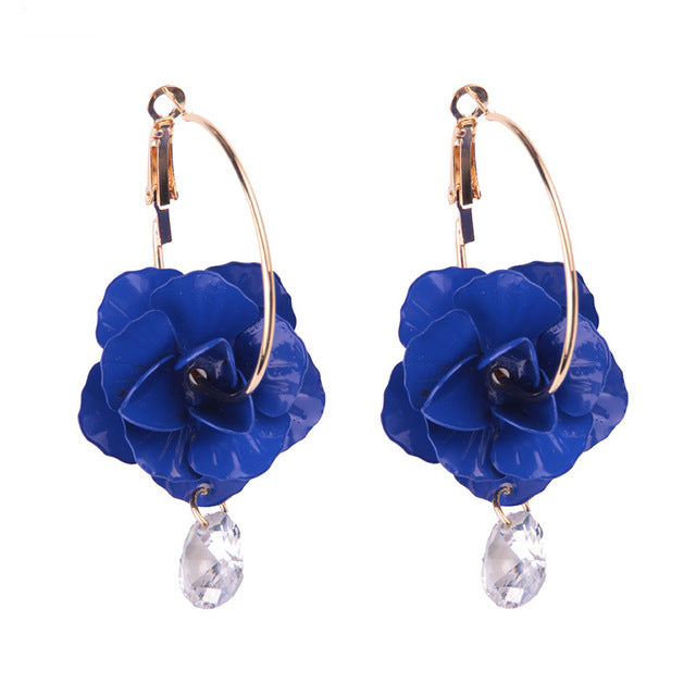 Fashion Flowers Statement Earrings