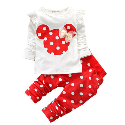 Baby Dot Print Clothing Set