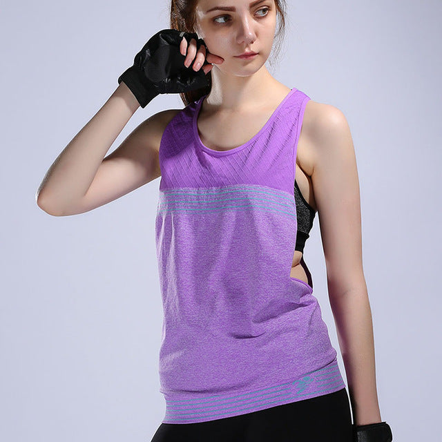 Running Sleeveless Yoga T-shirt