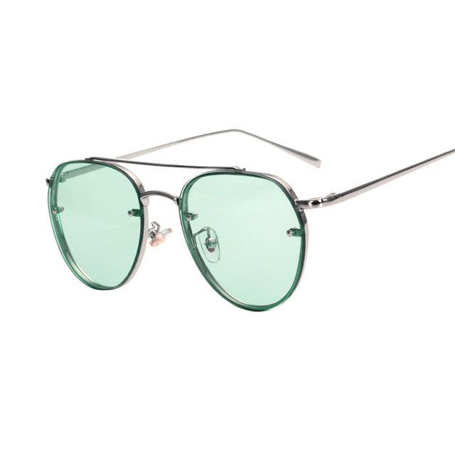 Round Double Beam Sunglasses