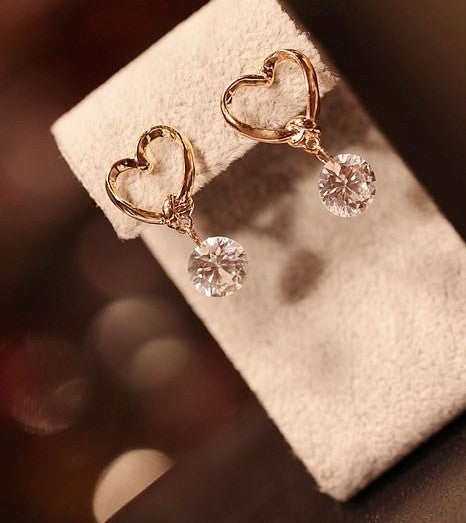 Luxury Charm Drop Pierced Earrings