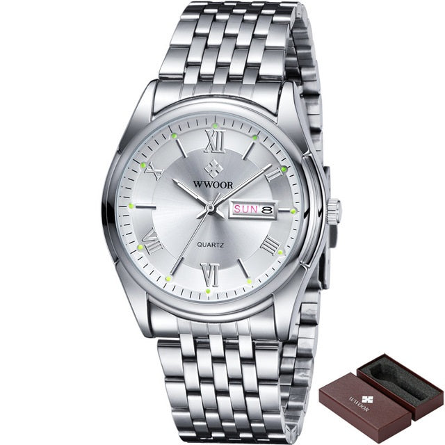 Stainless Steel Casual Quartz Watch