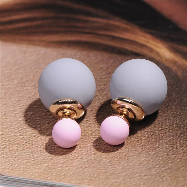 Double Faced Stud Earrings