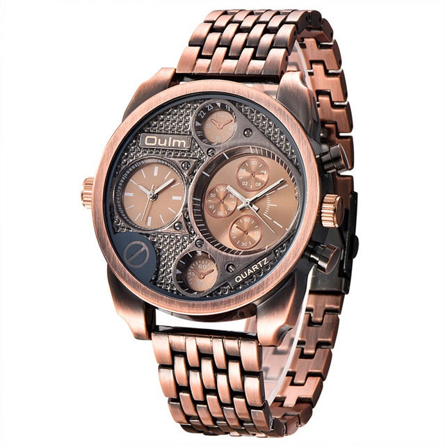 Men Full Steel Quartz Watch