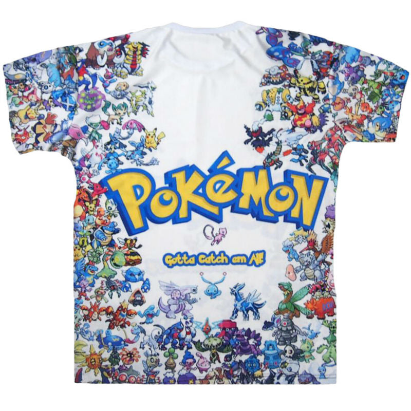 Pokemon 3D Printed T-shirts