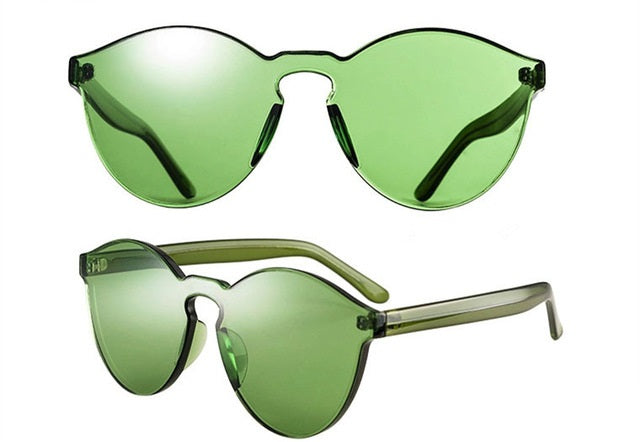 Resin Rimless Sunglasses