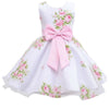 Summer baby girl print flower dress for wedding