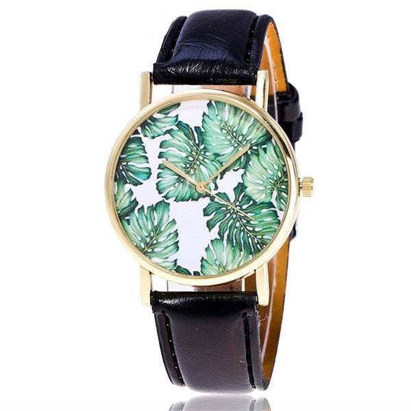 Fashion Tropical Leaf Watch