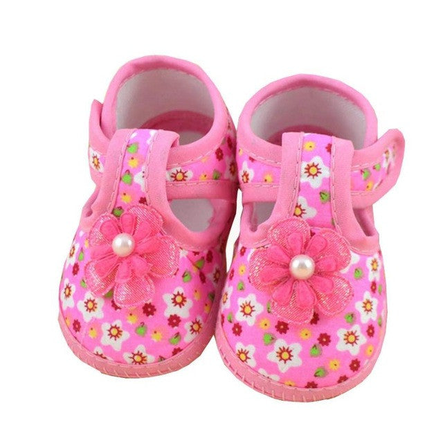 Baby Flower Boots Soft Crib Shoes for Girls