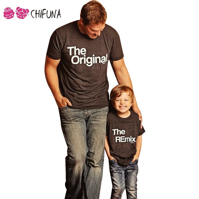 Chifuna Family Look Father Son Top Tees Family Matching Outfits