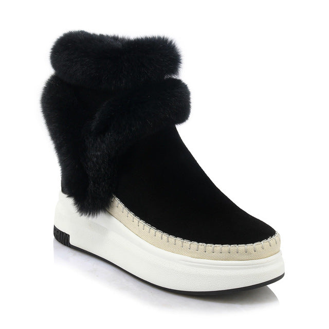WET KISS SUEDE LEATHER WINTER BOOTS