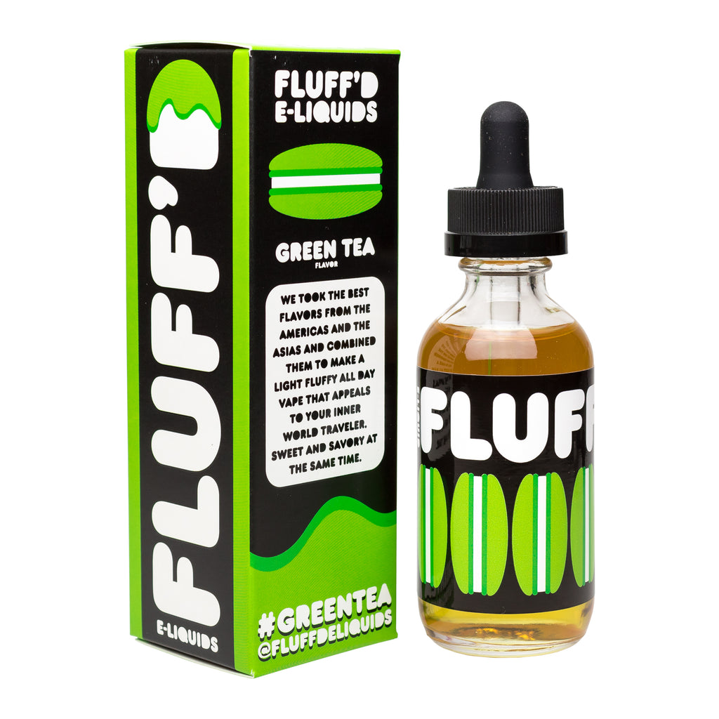 Green Tea By FLUFF'D E-Liquid - VaporSpot.com