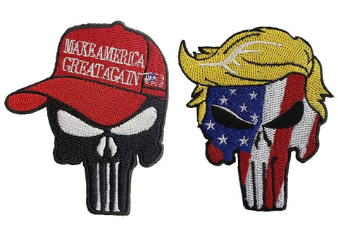 Trump Skull Patch Sew or Iron on Patch