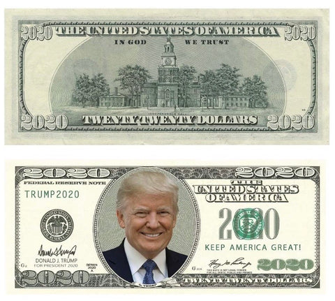 Donald Trump 2020 Dollar Bill
