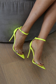 NEON YELLOW STRAPPY HEEL