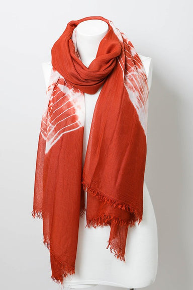 Rust Orange Tie Dye Scarf Cover-up