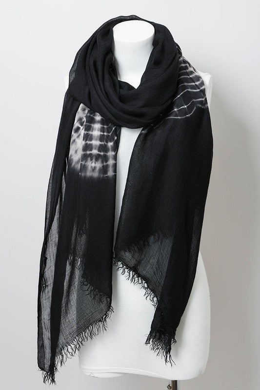 Black Tie Dye Scarf Cover-up
