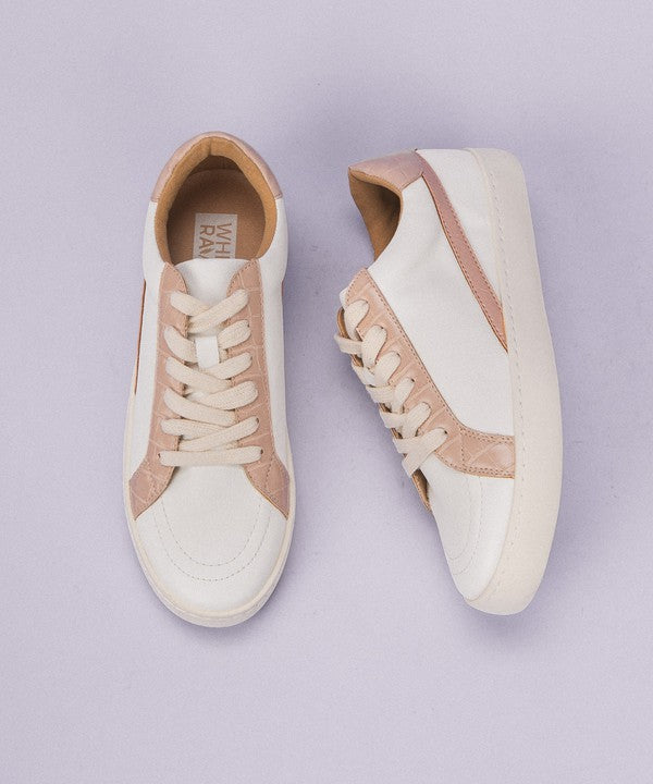 WHITE WITH NUDE PYTHON SNEAKER