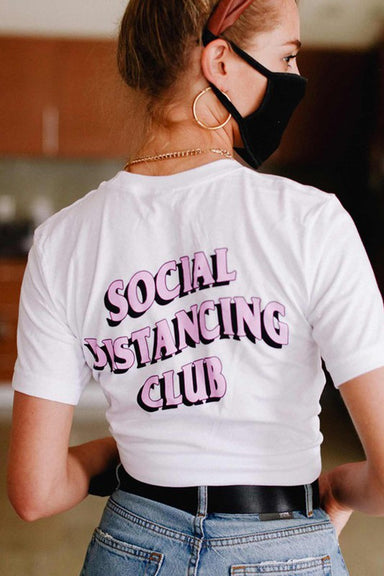 SOCIAL DISTANCING CLUB GRAPHIC T-SHIRT  Designed for comfort and style. This tee is made from premium cotton  and features a classic fit. Pair with your favorite jeans for a casual look.