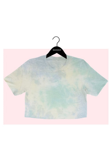GREEN TIE DYE CROP TEE   Tie dye cropped tee designed for comfort and style. Pair with your favorite joggers for a comfort look.