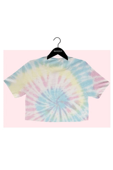 TIE DYE CROP TEE   Tie dye cropped tee designed for comfort and style. Pair with your favorite joggers for a comfort look.