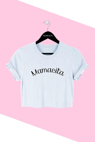 Mamacita crop top was designed for comfort and style. This tee is made from premium cotton  and features a classic crop fit.