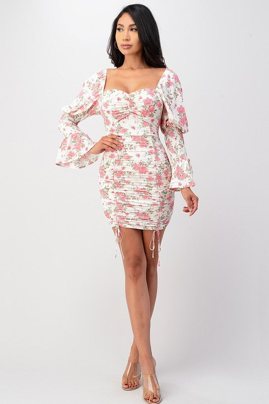 WHITE VERSION OF DRESS Black Long Sleeve Floral Dress
