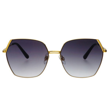 Chelsie Gold and Grey Sunglasses by FREYRS Eyewear