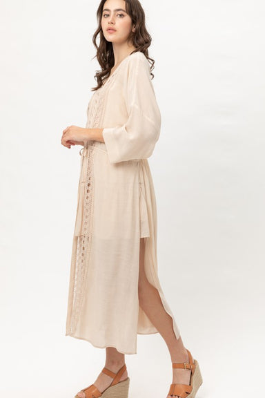 Natural Lace Detailed Kimono