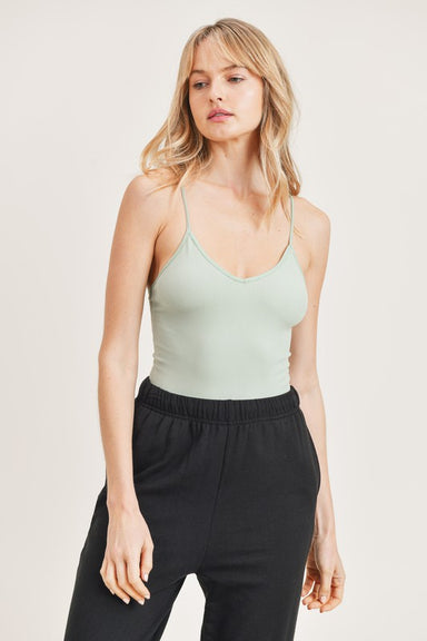 Sage Sleeveless Cami Bodysuit
