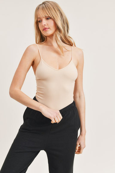 Nude Sleeveless Cami Bodysuit