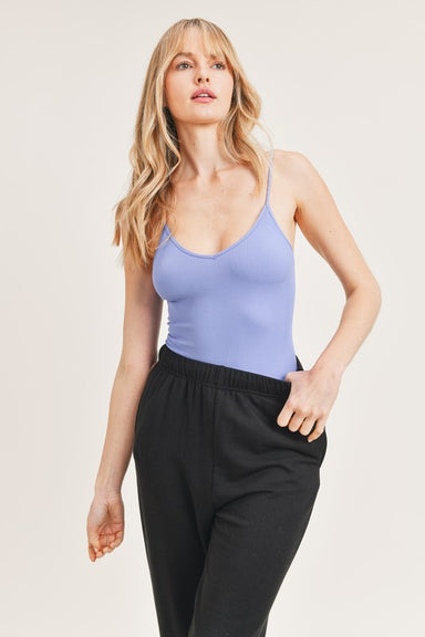 Blue Sleeveless Cami Bodysuit