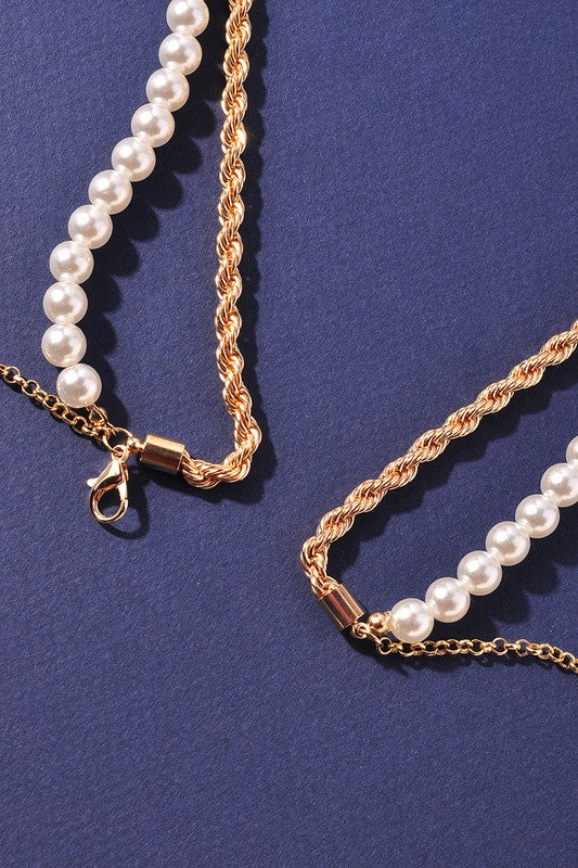 Pearl Two-layered Chain Belt