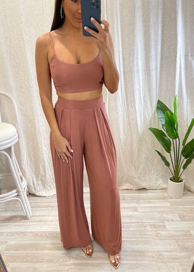 Light Rust Tank Pant Set