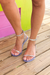 Silver Jelly Ankle Strap Studded Sandals