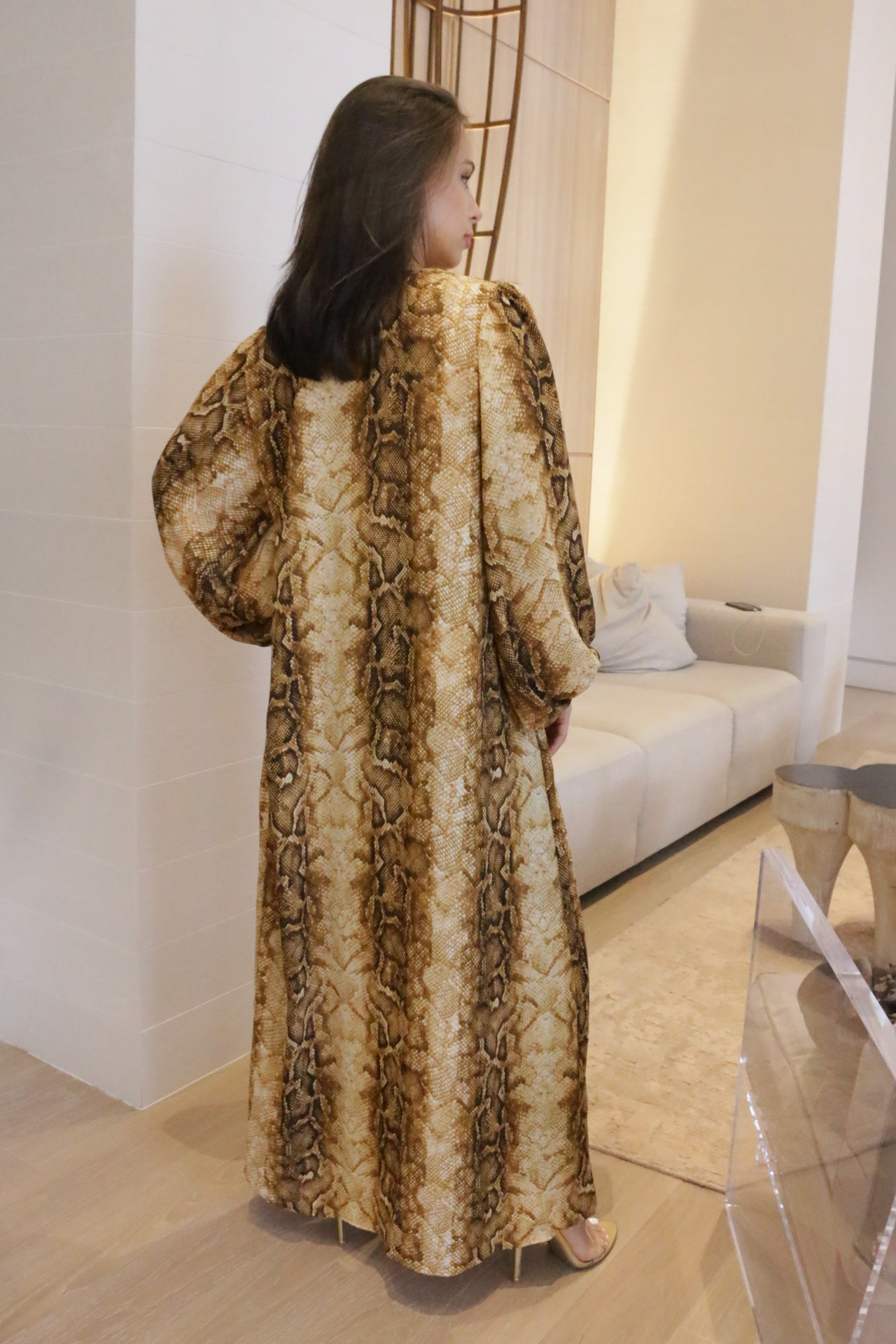 GOLD AND BLACK SNAKE DUSTER