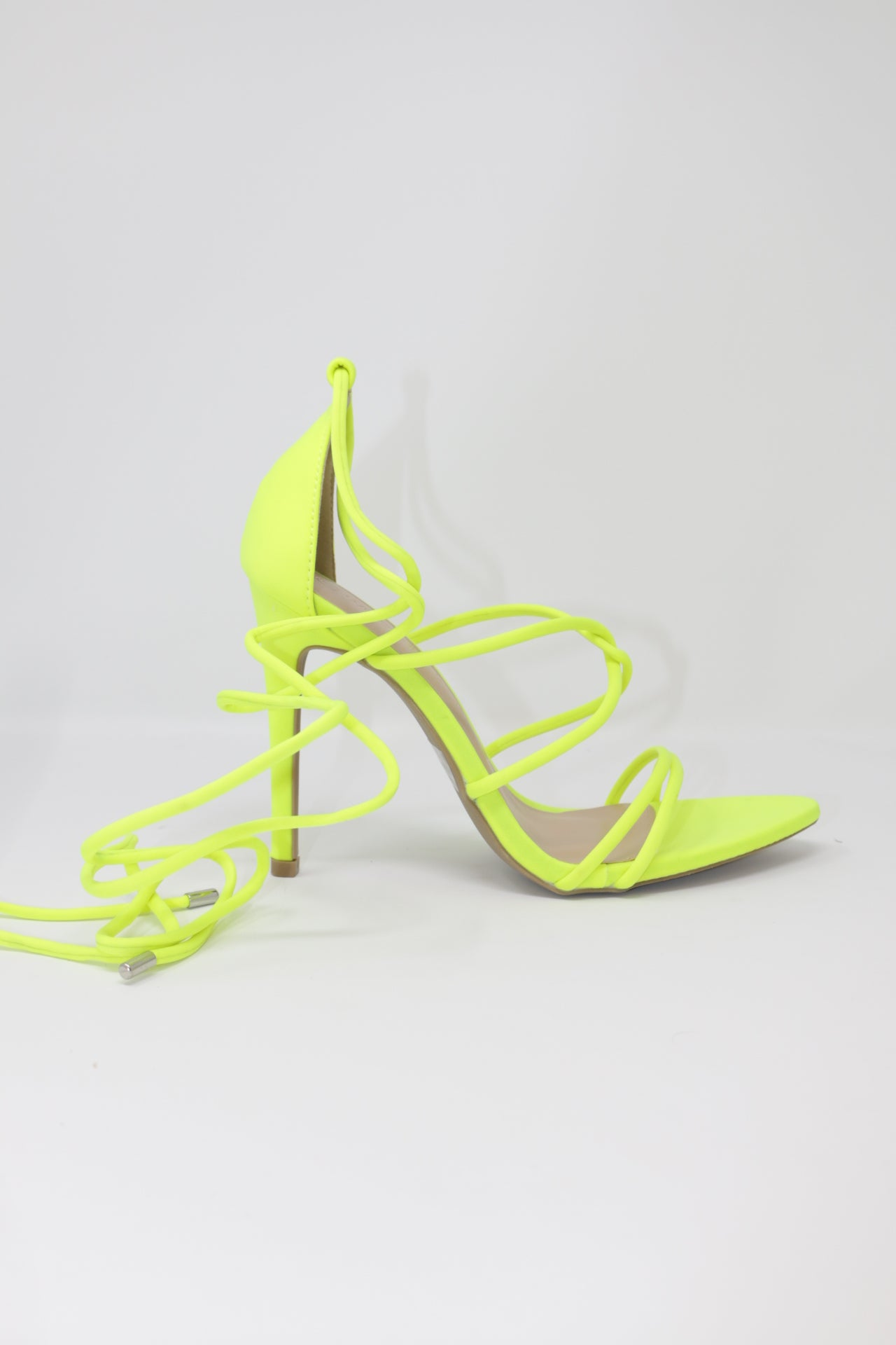 NEON YELLOW CARMY STRAPPY HEEL