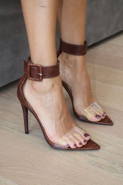 CROCODILE BIG BUCKLE HEEL
