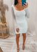 bride's white dress for bridal shower outfit