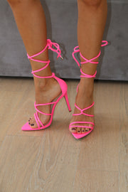 NEON PINK CARMY STRAPPY HEEL