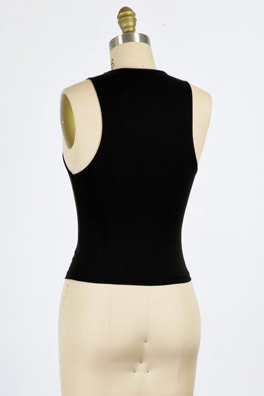 Black High Neck Tank
