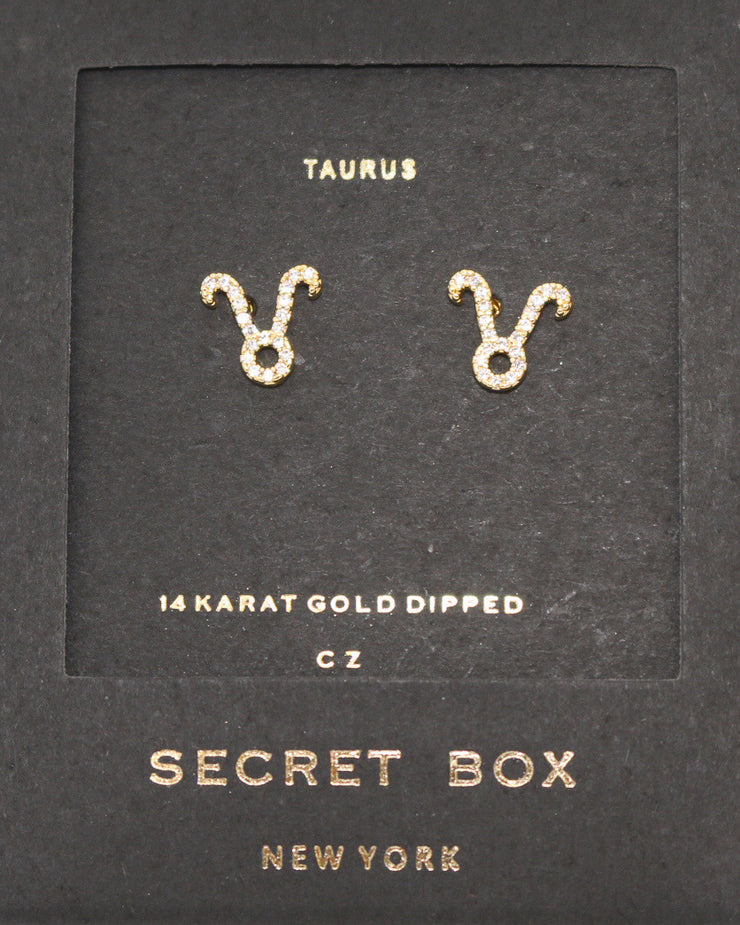 TAURAS GOLD EARRING DIAMOND STUDS